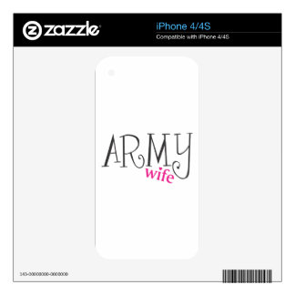 ARMY WIFE SKINS FOR THE iPhone 4S