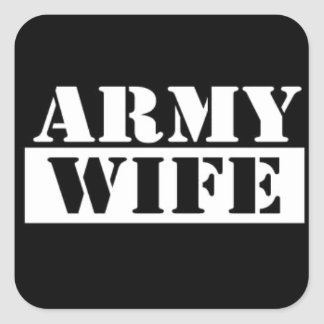 Army Wife Square Sticker