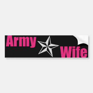 Army Wife Star Bumper Sticker