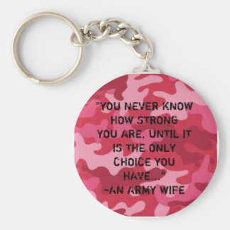 Army Wife...Strong Basic Round Button Keychain