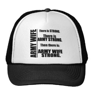 Army Wife Strong Trucker Hat