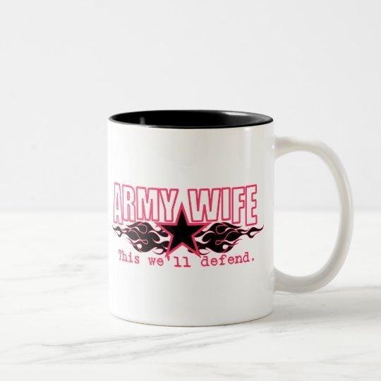 Army Wife: Two-Tone Coffee Mug