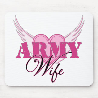Army Wife Wings Mouse Pad