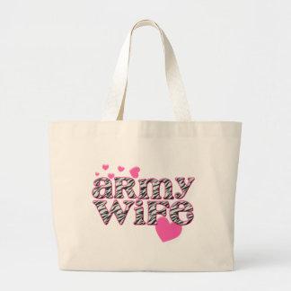 Army Wife [zebra print] Canvas Bag