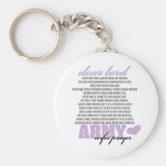 Army Wife's Prayer Keychain