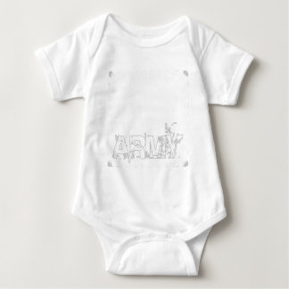 ARMY with Eagle Magic Design Easy Create Baby Bodysuit