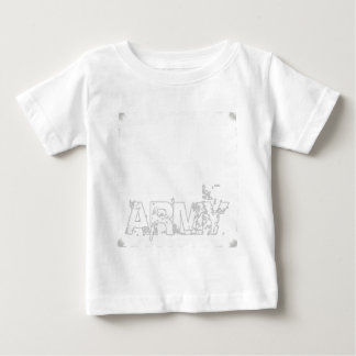 ARMY with Eagle Magic Design Easy Create Baby T-Shirt