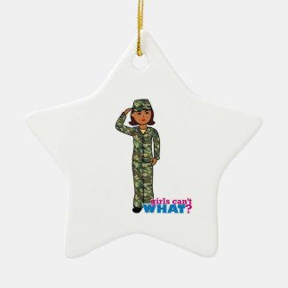 Army Woodland Camo Dark.png Ceramic Ornament