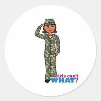 Army Woodland Camo Dark.png Classic Round Sticker