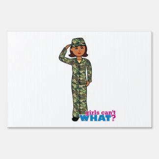 Army Woodland Camo Dark.png Lawn Sign