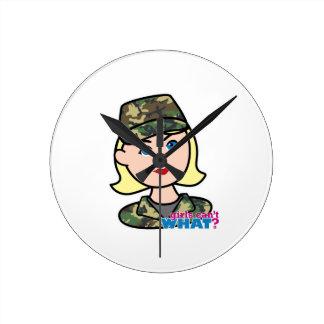 Army Woodland Camo Head Light Blonde Clocks