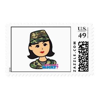 Army Woodland Camo Head Medium Postage