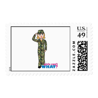 Army Woodland Camo Light Blonde Postage Stamps