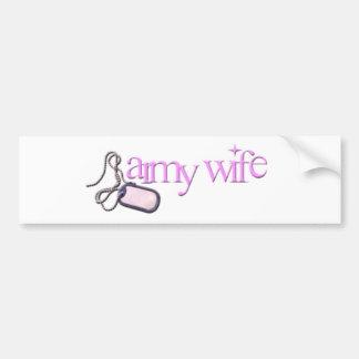 armywife etiqueta de parachoque