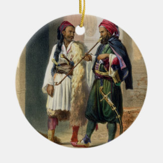 Arnaout and Osmanli Soldiers in Alexandria, illust Ceramic Ornament