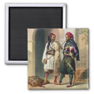 Arnaout y soldados osmanlíes en Alexandría, illust Imán Cuadrado