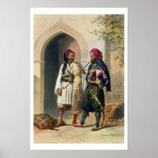Arnaout y soldados osmanlíes en Alexandría, illust Poster
