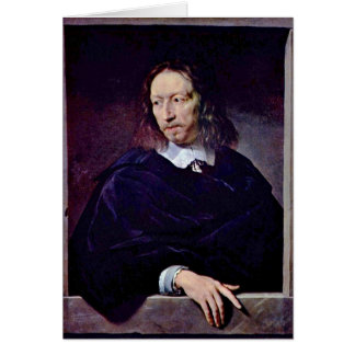 Arnauld D'Andilly By Philippe De Champaigne Greeting Card
