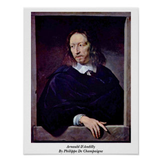 Arnauld D'Andilly By Philippe De Champaigne Posters