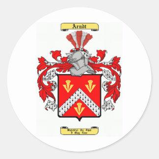 arndt classic round sticker