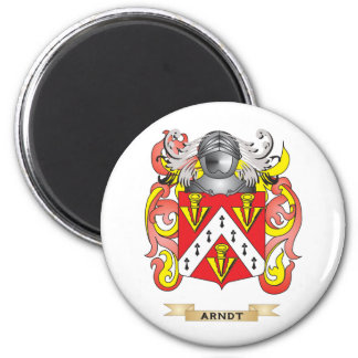 Arndt Coat of Arms (Family Crest) 2 Inch Round Magnet