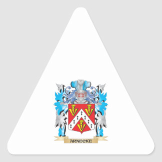 Arnecke Coat Of Arms Triangle Sticker