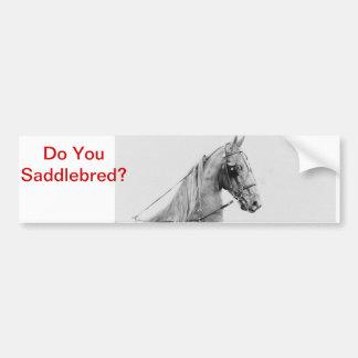 Arnés fino de Saddlebred Pegatina Para Auto