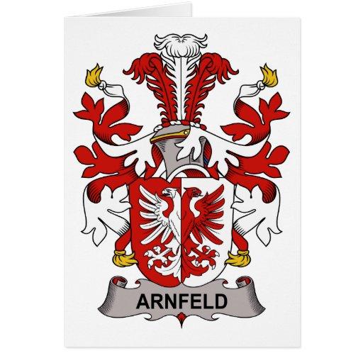 Arnfeld Family Crest Greeting Card