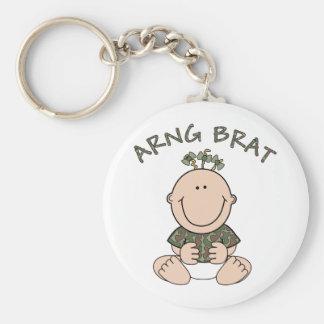 ARNG Brat (Girl) Basic Round Button Keychain