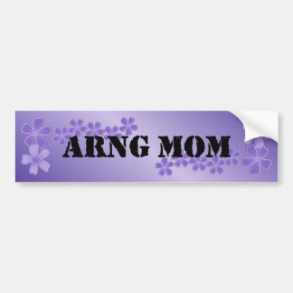 ARNG Mom Deep Lilac Hibiscus Bumper Stickers