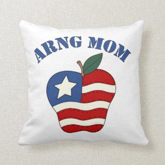 ARNG Mom Patriotic Apple Throw Pillow