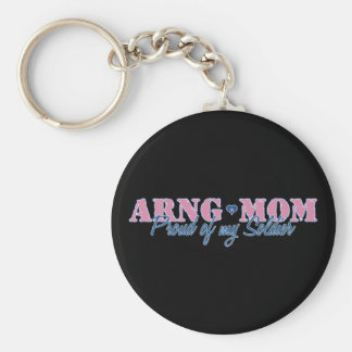 ARNG Mom Proud of my Soldier Keychain