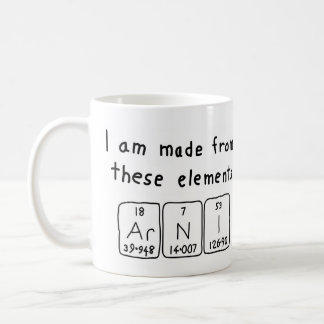 Arni periodic table name mug