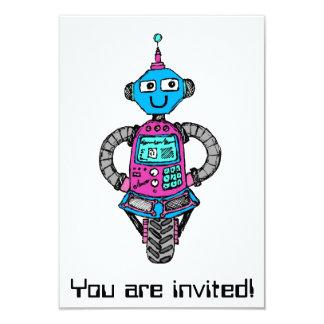 Arnie Robot: Pink and blue Card