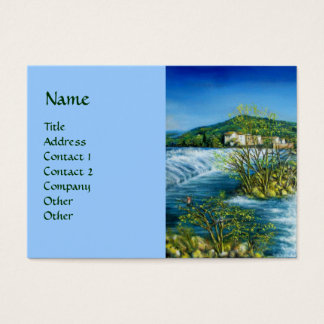 ARNO RIVER AT ROVEZZANO Florence Italy Business Card