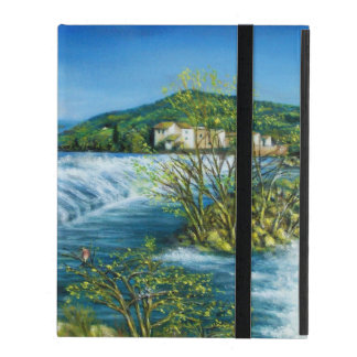 ARNO RIVER AT ROVEZZANO Florence Italy iPad Folio Cases
