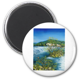 ARNO RIVER AT ROVEZZANO Florence Italy Magnet