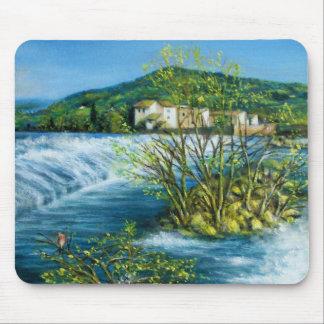 ARNO RIVER AT ROVEZZANO Florence Italy Mouse Pad