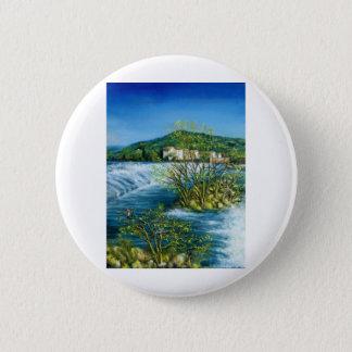 ARNO RIVER AT ROVEZZANO Florence Italy Pinback Button