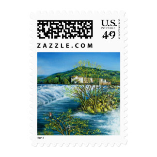ARNO RIVER AT ROVEZZANO Florence Italy Postage