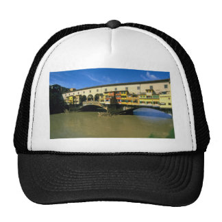 Arno River, flooded, Florence, Italy Mesh Hats