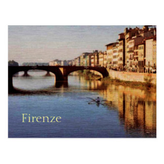 Arno River, Florence, Italy Postcard