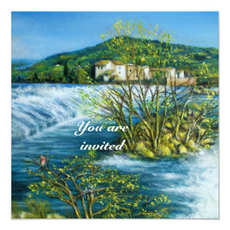 ARNO RIVER IN FLORENCE - TUSCANY parchment Card