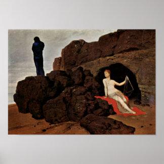 Arnold Bocklin - Odysseus and Calypso Poster