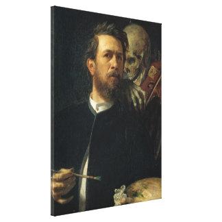 Arnold Böcklin - Self-Portrait with Death Canvas Print