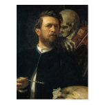 Arnold Böcklin - Self-Portrait with Death Post Cards