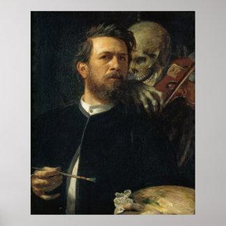 Arnold Böcklin - Self-Portrait with Death Poster