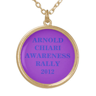 ARNOLD CHIARI AWARENESS RALLY2012 GOLD PLATED NECKLACE