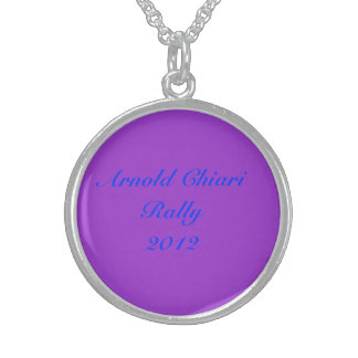 ARNOLD CHIARI AWARENESS RALLY2012 STERLING SILVER NECKLACE