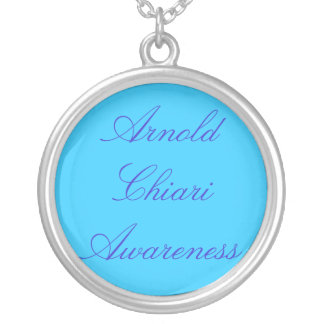 Arnold Chiari Awareness Round Pendant Necklace